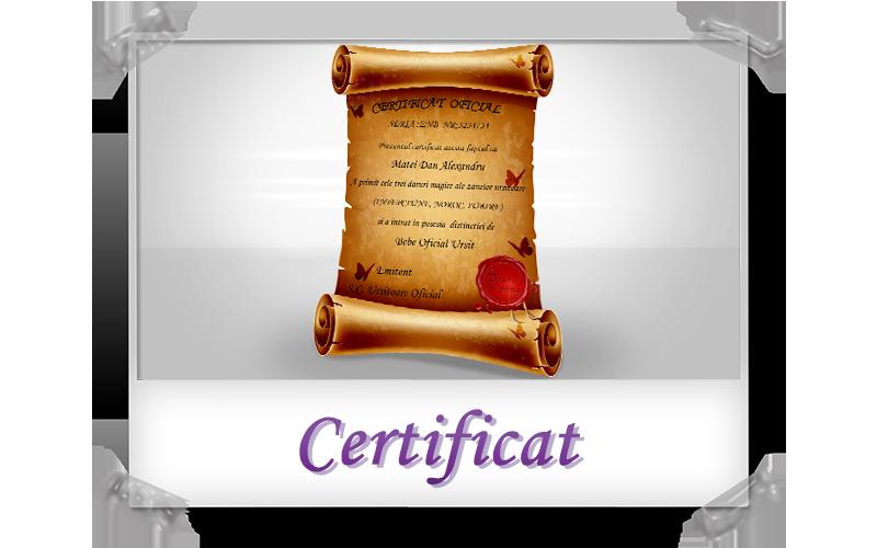 certificat ursitoare